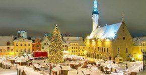 A Tallinn dove è nato l'albero di Natale