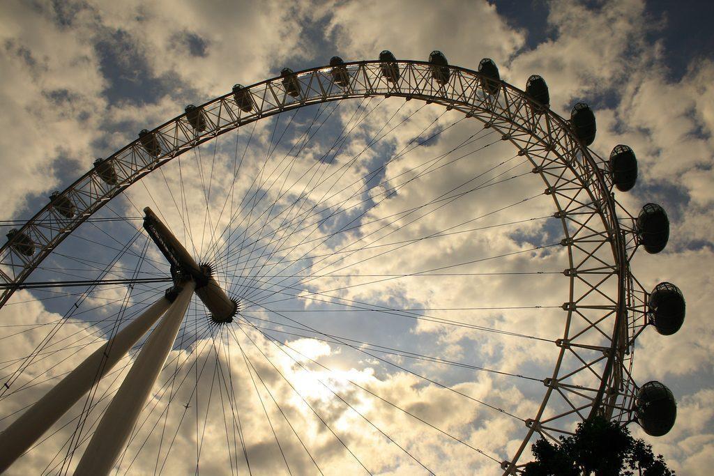 london-eye-tramonto