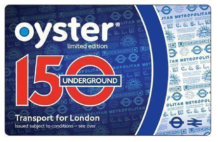 Oyster Card nuova per i 150 dei Trasporti di Londra 2013