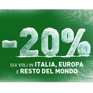 Alitalia e i codici sconto del 20%