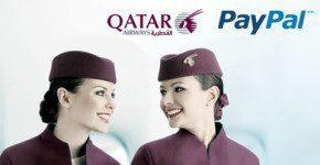 Offerte della compagnia Qatar per chi paga con Paypal