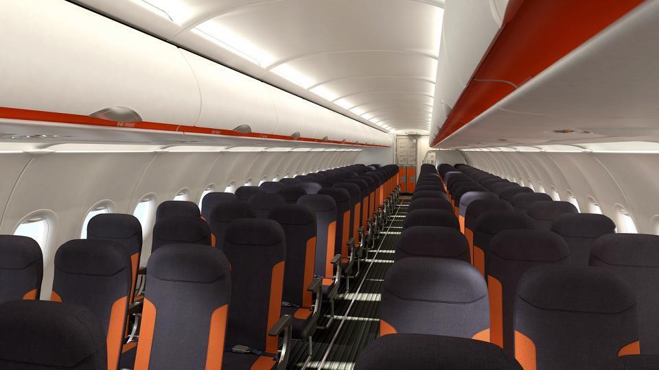 Nuovi interni per easyjet presentati al salone del mobile - Easyjet cosa si puo portare in aereo ...