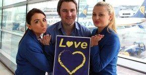 Vinci 20.000€ con Ryanair a San Valentino