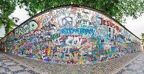 Il muro di John Lennon a Praga