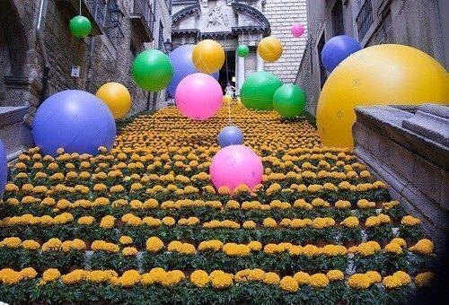 La festa dei fiori di Girona