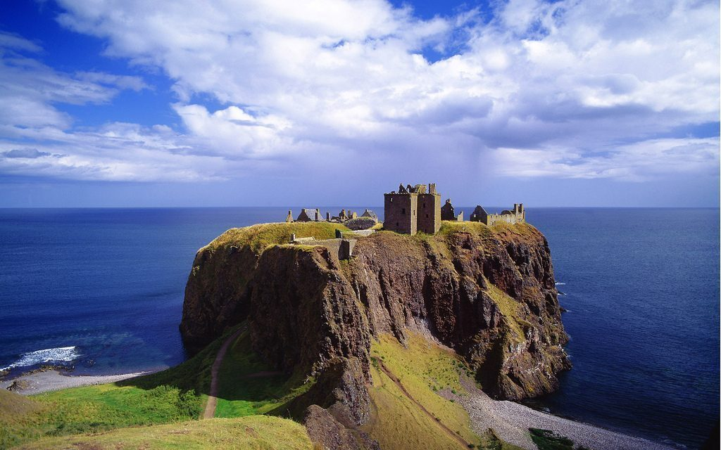 United Kingdom, UK, Scotland, Aberdeenshire, Travel Destination, Dunnottar Castle near Stonehaven town