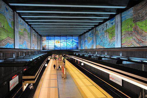 Wien Volkstheater Subway Metro Station