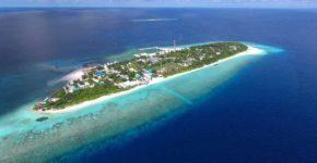 Maldive abitate. Isola di Ukulhas.